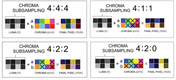 Chroma Subsampling Basics (courtesy of www.videomaker.com)