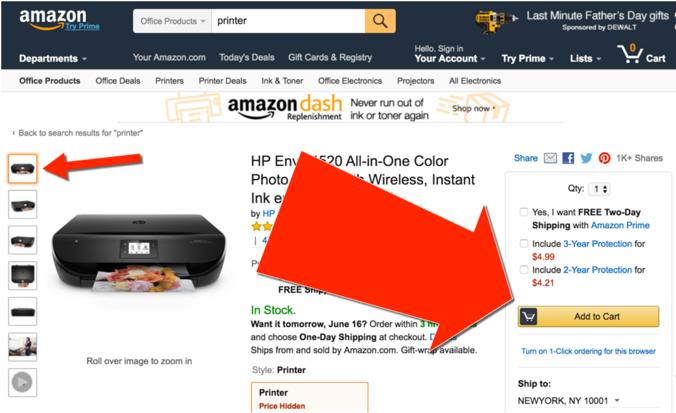 Amazon CTAs