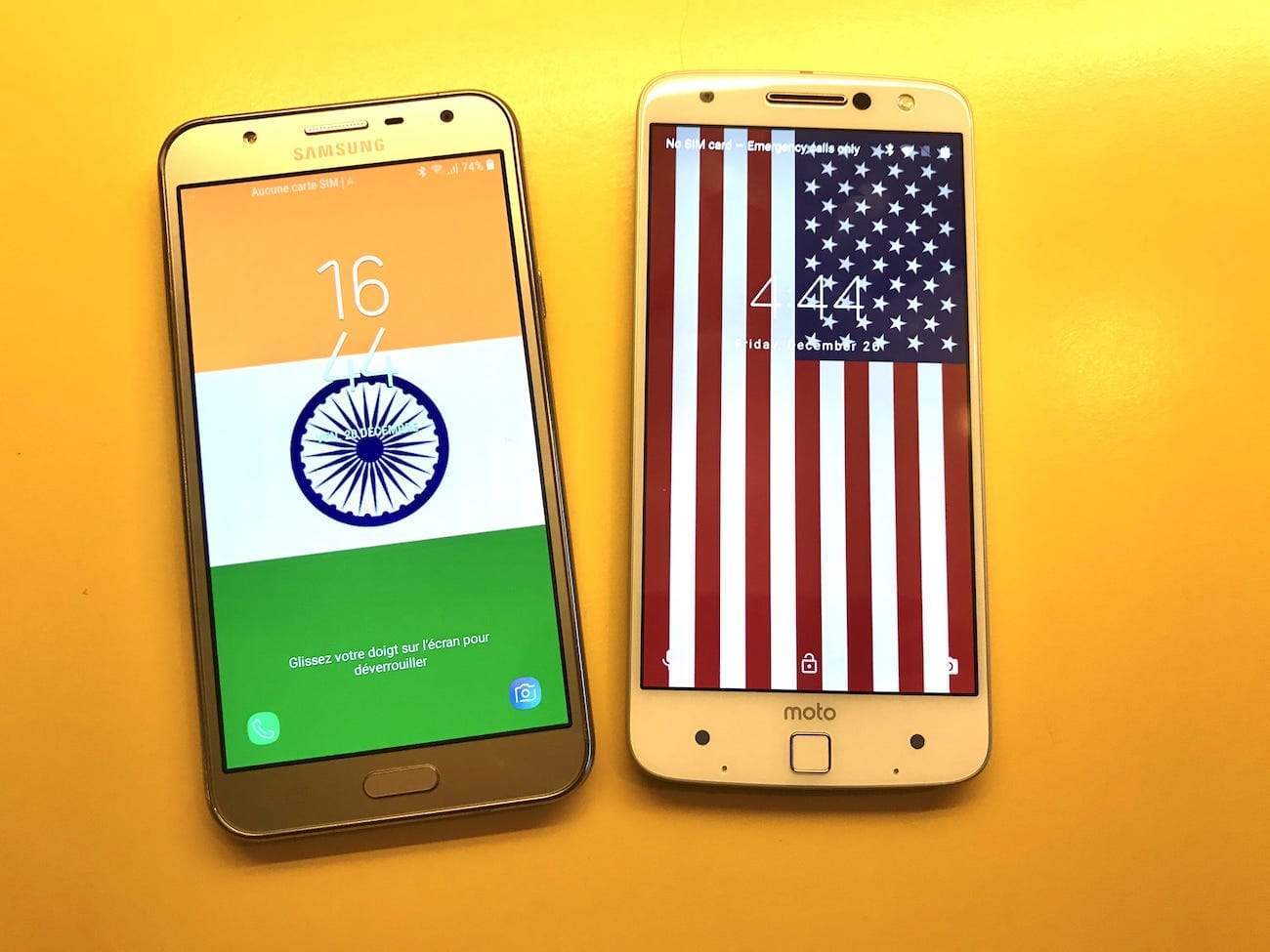 India and US p25 phones